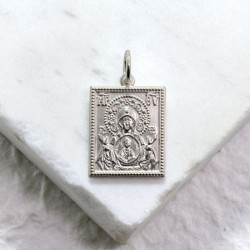Kursk Root  Icon Silver Pendant