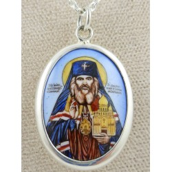 St. John Enamel Icon Pendant - Small