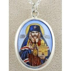 St. John Enamel Icon Pendant - Large