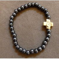 Hematite Bead Prayer Bracelet