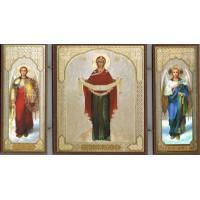 Triptych Protection of the Mother of God/ Складень триптих Покров Пресвятой Богородицы