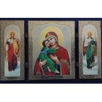 Triptych Our Lady of Vladimir/ Складень триптих Владимирская икона Божией Матери