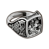 Great Martyr George Silver Ring