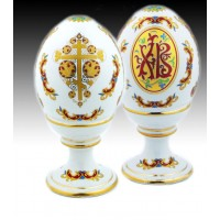 XB Gilded Porcelain Egg on Stand