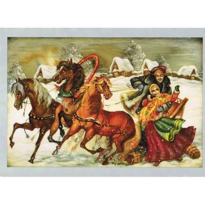Russian Folk Art Christmas Cards